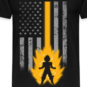 Saiyan lover with American flag T - shirt - Men's Premium T-Shirt