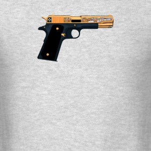 Black Gold Gun Pullover - Men's T-Shirt