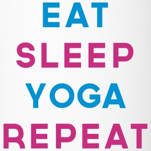 Eat Sleep Yoga Repeat Quote Mugs & Drinkware - Travel Mug