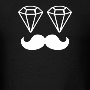 Dope Chef Diamond Moustache Hipster Swag Illest - Men's T-Shirt