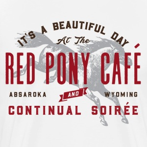 Red Pony Cafe and Continual Soiree - Men's Premium T-Shirt