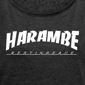 harambe Name - Women´s Rolled Sleeve Boxy T-Shirt