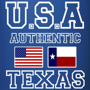 Awesome Patriotic and Authentic U.S.A Texas Flags - Full Color Mug