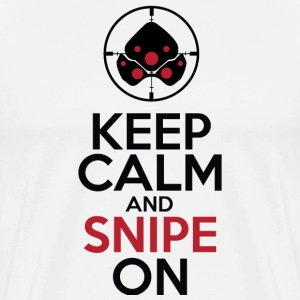 Keep Calm and Snipe on  - Men's Premium T-Shirt