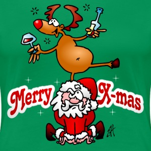 Merry Christmas - Reindeer dances on Santa Claus T-Shirts - Women's Premium T-Shirt