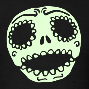 Cute Sweet Skull Glow T-shirt - Men's T-Shirt