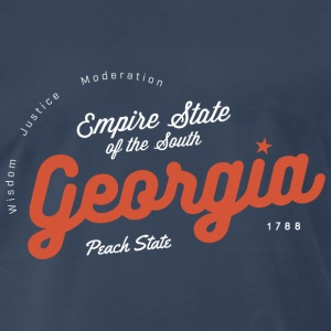 Georgia Vintage Badge - Men's Premium T-Shirt
