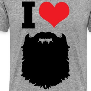 I Love Beards T-Shirts - Men's Premium T-Shirt