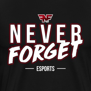 Never Forget eSports Text Tee - Men's Premium T-Shirt