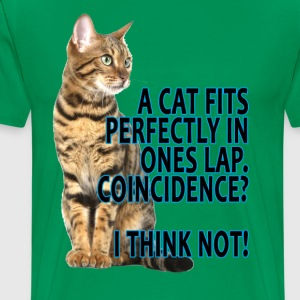a_cat_fits_perfectly_in_ones_lap - Men's Premium T-Shirt