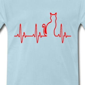 cat_hearthbeat_ - Men's Premium T-Shirt