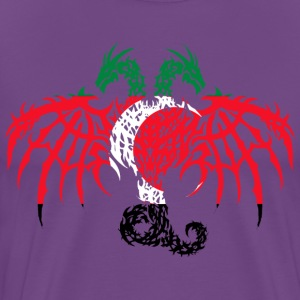 DARFUR FLAG DRAGON 2 HEAD T-Shirts - Men's Premium T-Shirt
