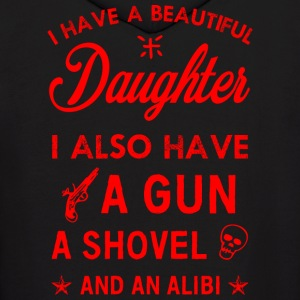 Beautiful Daughter red Hoodies - Men's Hoodie