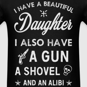 Beautiful Daughter grey T-Shirts - Men's T-Shirt