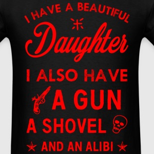 Beautiful Daughter red T-Shirts - Men's T-Shirt