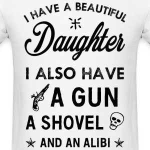 Beautiful Daughter black T-Shirts - Men's T-Shirt
