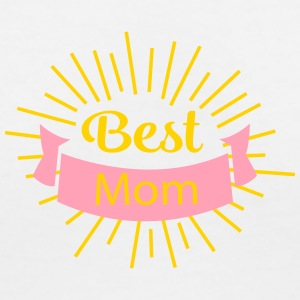 best_mom T-Shirts - Women's V-Neck T-Shirt