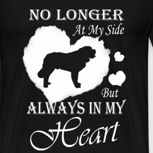 St. Bernard - No longer at my side but in my heart - Men's Premium T-Shirt