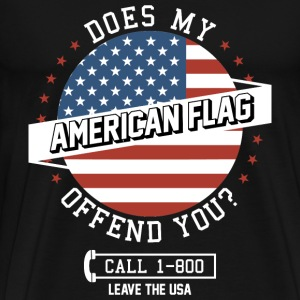 Veteran - Does my American flag offend you? - Men's Premium T-Shirt