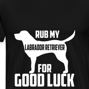 Labrador retriever lover - Rub for good luck - Men's Premium T-Shirt