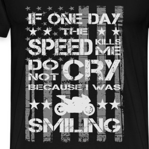 Paul Walker quote - If one day the speed kills me - Men's Premium T-Shirt