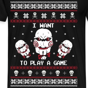 Jigsaw - I want to play a game - Men's Premium T-Shirt