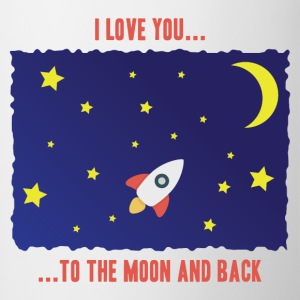 Contrast Coffee Mug I love you to the moon and bac - Contrast Coffee Mug