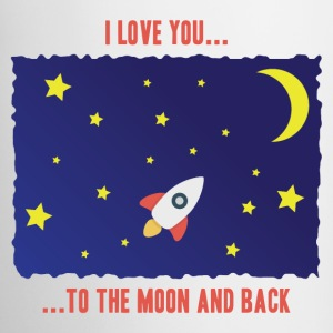 White Color Coffee Mug I love you to the moon and  - Coffee/Tea Mug