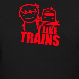 I Like Trains Asfd - Women's T-Shirt
