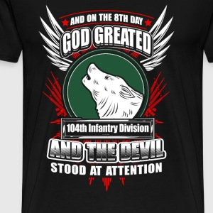 104th Infantry division - The 8th day god created - Men's Premium T-Shirt
