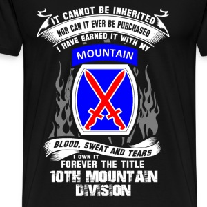 10th mountain division - I've earned it with blood - Men's Premium T-Shirt