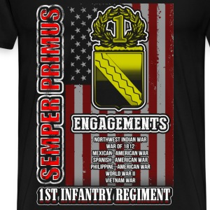 1st infantry regiment - Semper primus awesome tee - Men's Premium T-Shirt