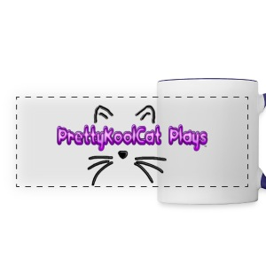 PrettyKoolCat Plays Mug (Cat Logo) - Panoramic Mug