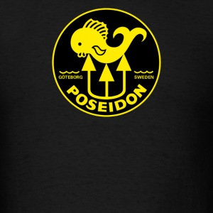 Poseidon Vintage Scuba Tank decal - Men's T-Shirt