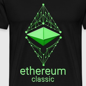 Ethereum Classic Made of Green on black T-shirt - Men's Premium T-Shirt