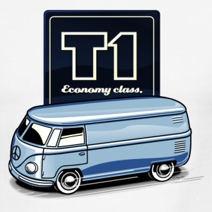 T1 Bus - Economy Class T-Shirts - Men's Ringer T-Shirt