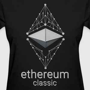 Ethereum Classic Made of Silver design on black T- - Women's T-Shirt