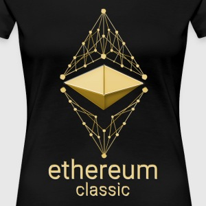 Ethereum Classic Made of Gold design on black T-sh - Women's Premium T-Shirt
