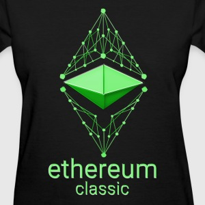 Ethereum Classic Made of Green design on black T-s - Women's T-Shirt