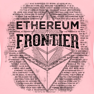Ethereum Frontier Black design on pink T-shirt - Women's Premium T-Shirt