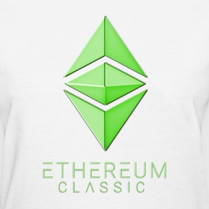 Ethereum Classic simple Green on white T-shirt - Women's T-Shirt