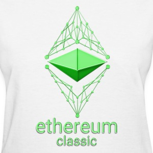 Ethereum Classic Made of Green design on white T-s - Women's T-Shirt