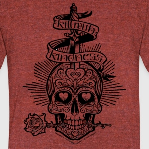 Kill with Kindness - Unisex Tri-Blend T-Shirt by American Apparel
