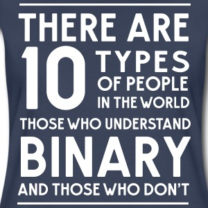 10 Types of people in the world. Binary T-Shirts - Women's Premium T-Shirt