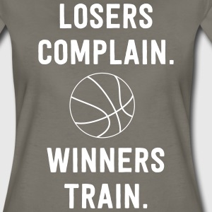 Losers Complain. Winners Train in Basketball T-Shirts - Women's Premium T-Shirt