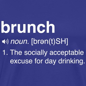 Funny Brunch Definition T-Shirts - Men's Premium T-Shirt
