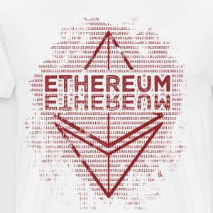 Ethereum Frontier Red design on white - Men's Premium T-Shirt