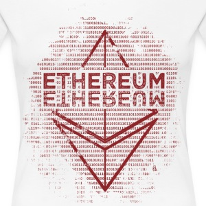 Ethereum Frontier Red design on white - Women's Premium T-Shirt