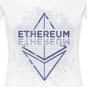 Ethereum Frontier Blue original on white - Women's Premium T-Shirt