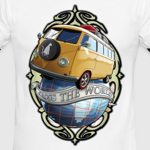 T1 Bus - Cross the World T-Shirts - Men's Ringer T-Shirt